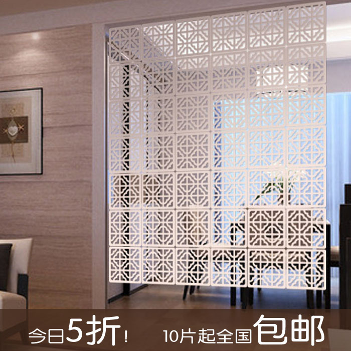Modern minimalist living room bedroom wall hollow hanging washing off the wall white restaurant entrance office hanging
