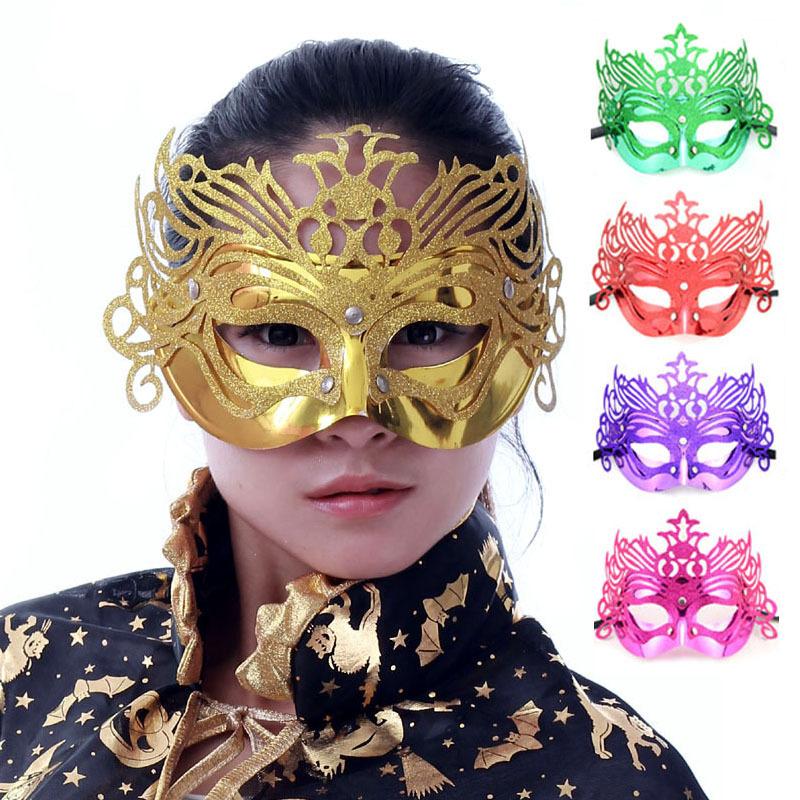 万圣节 化妆舞会面具鬼节万圣节面具用品皇冠面具 金粉花边面具