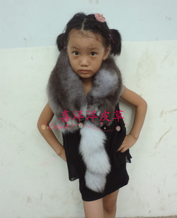 Radiant whole fox fur collar fox fur scarves children winter scarves shawl collar