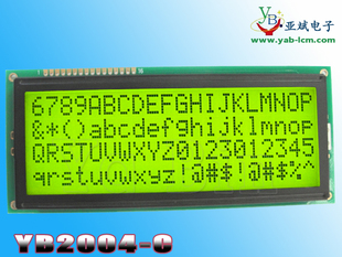Large size LCD module LCD 2004C black and yellow dot matrix screen display parallel characters 2004