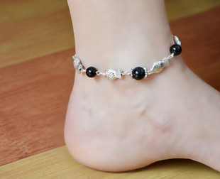 Yunnan Ethnic Tibetan silver fish jewelry retro female minimalist characteristics Miao silver anklets JL012 wholesale supply stall