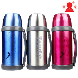 Rich light stainless steel thermal pot cup capacity vacuum travel pot 1500ml wide mouth thermos genuine counter