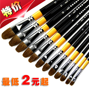 Lino Borg Langhao single round brush single Langhao gouache gouache paint brush pen Single