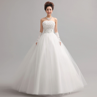 The new 2015 Korean wedding dress bride wedding Bra Qi large yards Slim white custom autumn and winter