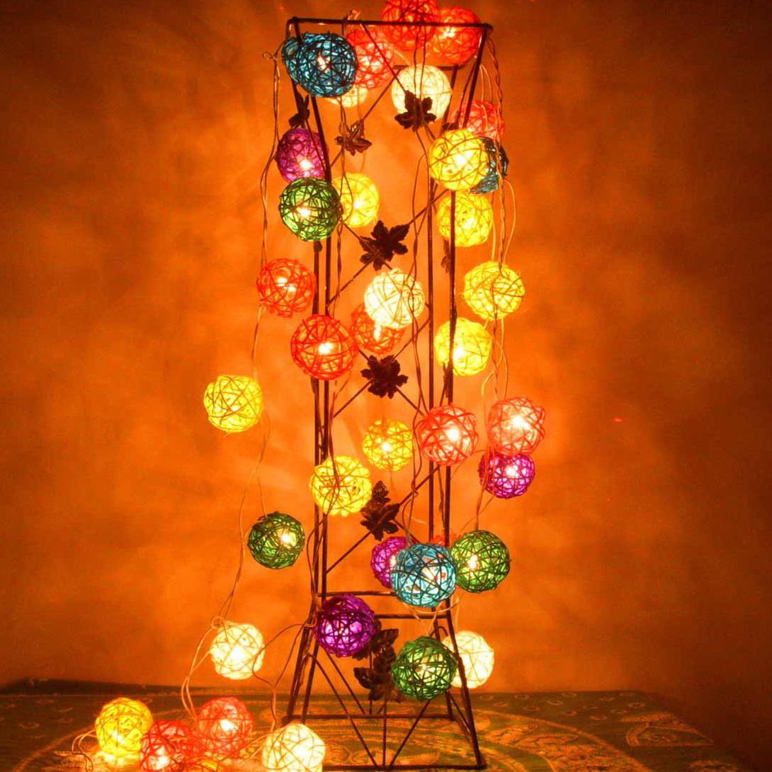 Специальный фонарь идеи что декоративная лампа ротанга мяч строку фары Таиланд свадебный номер украшения строки огни шарики мигалками пакет электронной почты 5 см