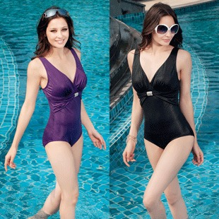 The new special Korean version of Siamese large cup sexy Xiaoping angle counter was thin cover belly female swimsuit XL