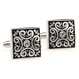 Oriental Buddha pattern men s room square cufflinks French shirt cuff nail 170 536