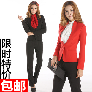 Women wear suits Korean version of spring fashion OL career suits overalls Ms Slim female dress frock
