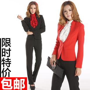 Женщины носят костюмы корейской версии мода весна OL карьеры костюмы комбинезоны г-жа Тонкий женский дресс-платье