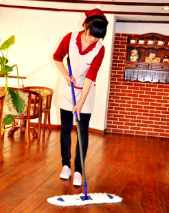 Promotion Dr. Chen 40cm magic thread dust push household cleaning products yarn mop flat mop package