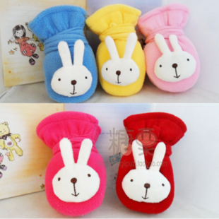 Korean children halter baby cute rabbit cartoon gloves 2 4 years