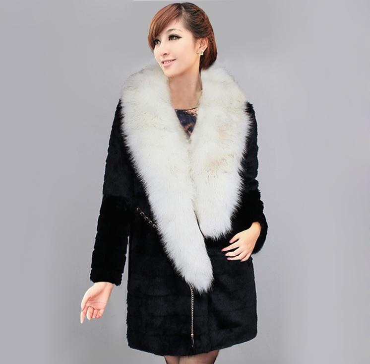 Новое 2014 спец Распродажа искусственной норки Пальто моды Пальто Пальто Пальто женщина длинные