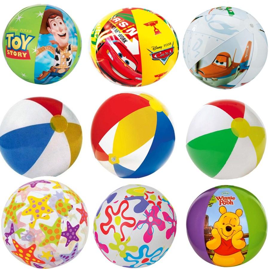 Подлинный INTEX пляжный мяч надувные мяч сгущаться ребенок купание игрушка прозрачный газированный пляжный мяч большой шар бесплатная доставка