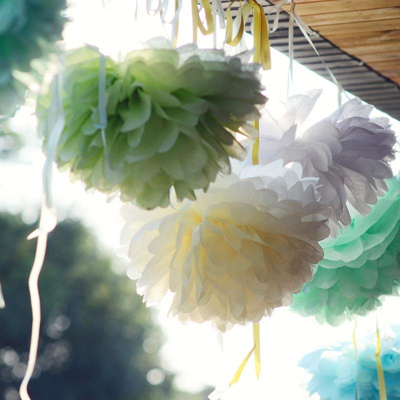Средний бумаги цветок мяч Европы стиль Свадебные украшения Детские Детская комната украшая день рождения партии украшения