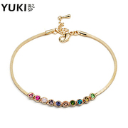 YUKI female Korean fashion jewelry anklet Crystal rose gold color original Valentine''s Day surprise gift