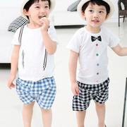多啦啦2015春夏新款布布發現童裝旗艦店江南布衣韓版男童2件套裝