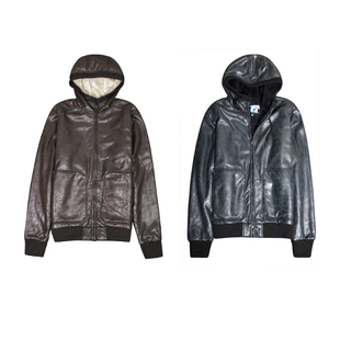Together fly Shook sherpa liner washing to do the old retro crack PU leather couple models
