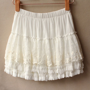 2015 new winter skirt lace tutu mesh veil cake skirt hip skirt mini skirt skirt bottoming