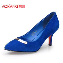 Aucom new Korean fashion and comfortable Scrubs professional shoes women's shoes fashion cashmere pointed high heels