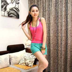 2015 spring and summer wild Slim Stretch modal cotton candy colored camisole word vest