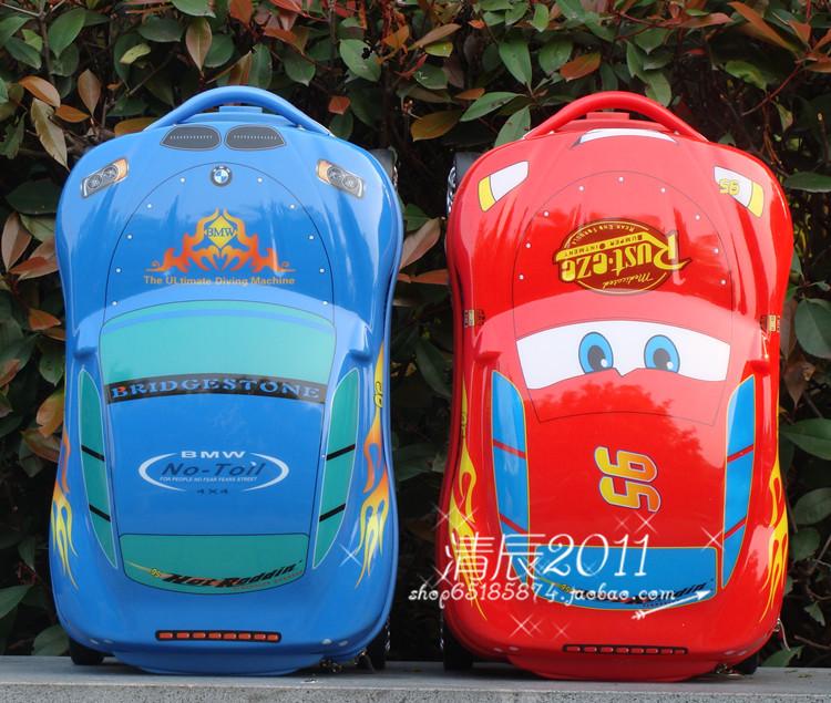 Специальные предложения милый мультфильм красный Маккуин автомобиль в поисках Немо детей багажа чемодан сумка багажа чемодан