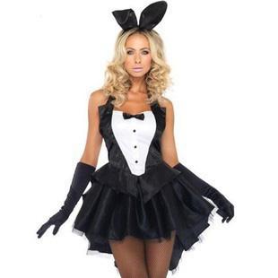 黑色燕尾服少女时代魔术师兔女郎 制服演出服装 女爵士舞ds舞台装