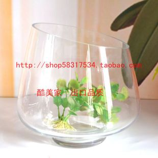 Transparent glass container container beveled glass vase home decoration furnishings craft