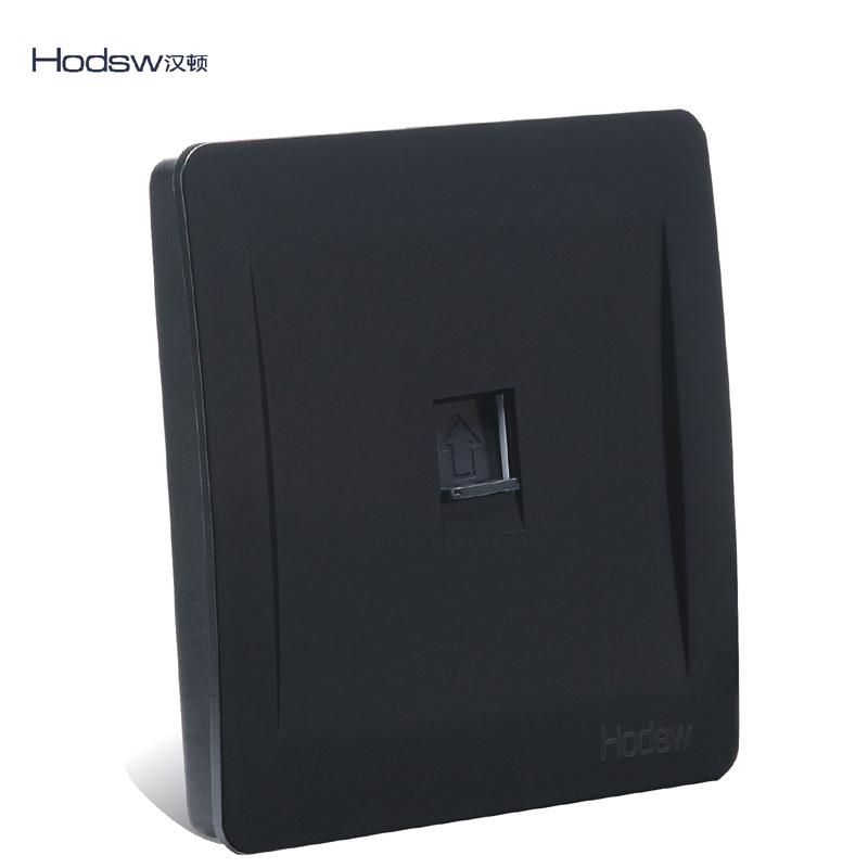 墙壁开关面板电源插座C3黑色单联一位电话插座86型电话线插座面板