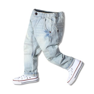 Foreign Baby's clothing 2015 autumn models of child boy pants crotch pants soft collapse crotch pants hanging low crotch jeans