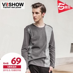 Viishow spring and autumn 2015 men's long t shirts Ralph Lauren slim fit long sleeve t shirt t shirt men