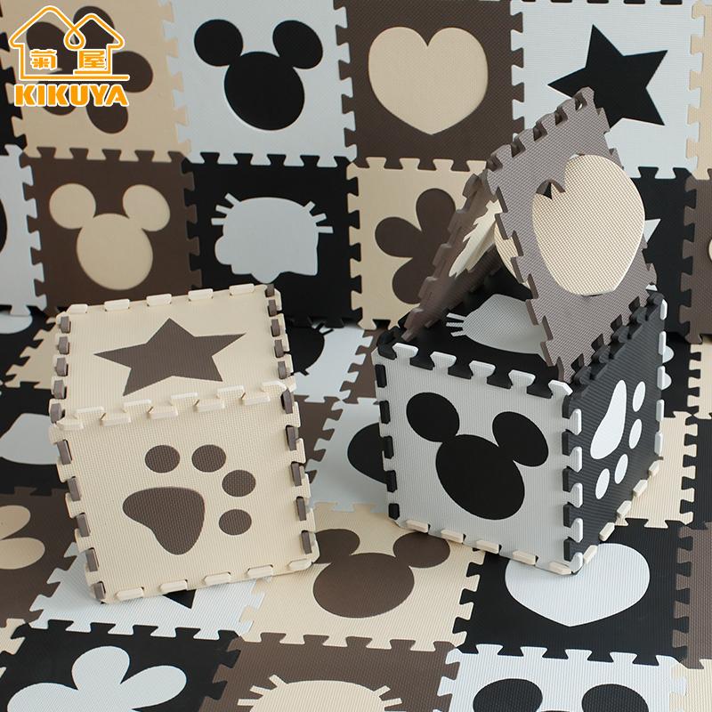 菊屋地垫30x30x1cm(10片)小拼图泡沫垫子铺地宝宝爬行卡通拼接