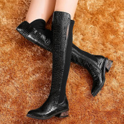 Strange love of autumn/winter 2014 new leather women boots over the knee stretch boots high boots boots boots, thin leg women