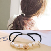 Know Richie Korean pop bead of high-grade elastic hair accessories hair band hair Korean rope ring headdress