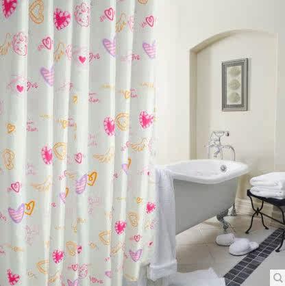 涤纶卫生间套装防水加厚隔断布浴帘