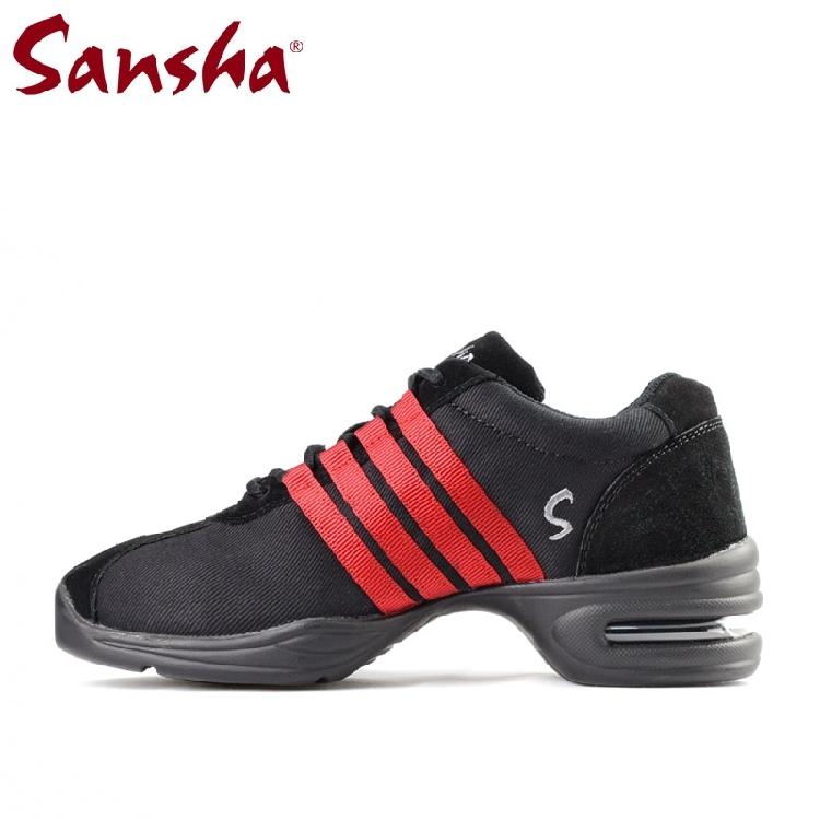 Sansha франция санши движение танец обувной холст даже конец воздушная подушка повышать сэр обувной улица обувь H37C