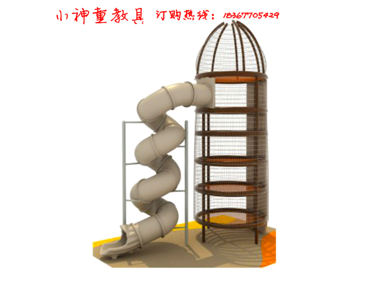 Direct selling square spider tower multi-layer climbing large climbing slide fitness sports facilities climbing frame climbing trampoline