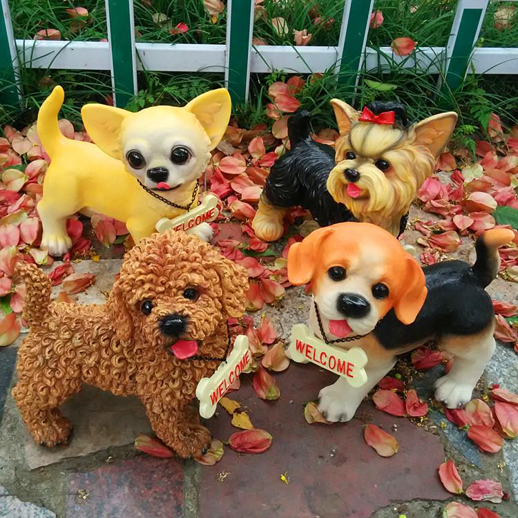 Творческого моделирования смолы собака украшение украшения номер прекрасный повезло собаки животных модель собаки ремесла девушки