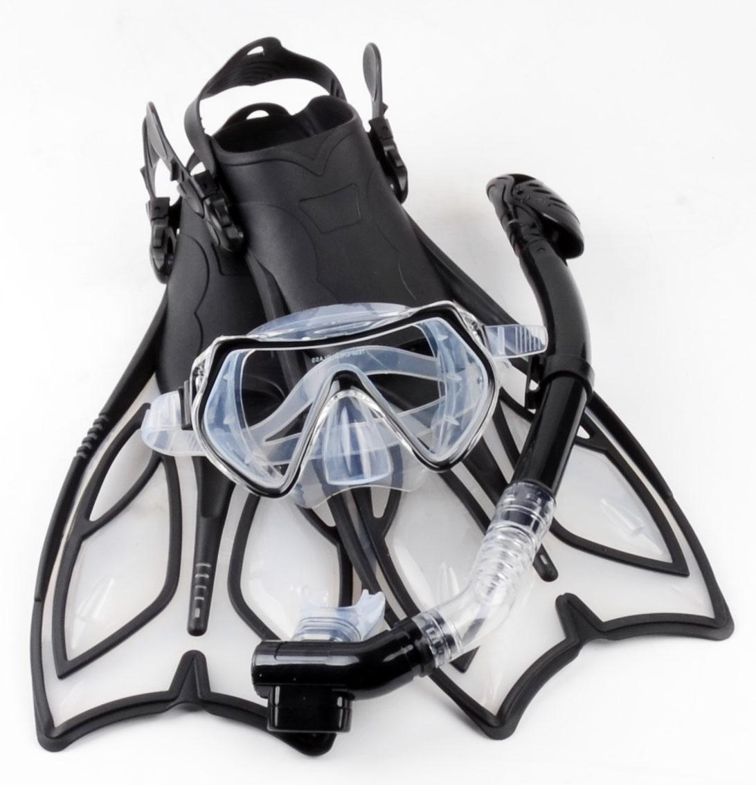 夏浪风 浮潜装备潜水三宝 全干式呼吸管硅胶近视潜水镜 浮浅脚蹼