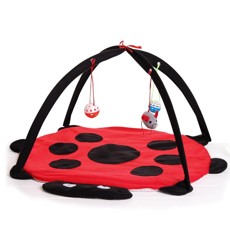 貓帳篷寵物用品貓咪玩具甲殼蟲吊床貓玩具逗貓棒球響聲磨爪包郵