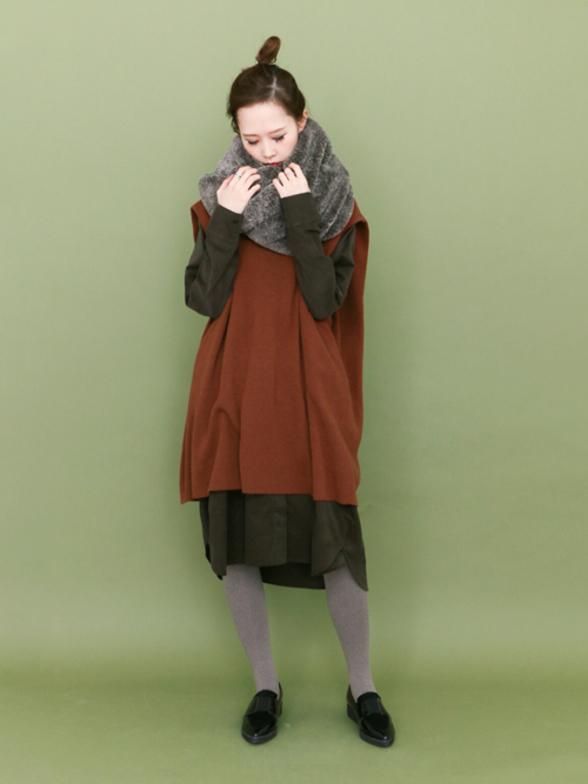 Japanese Dansen womens pure cotton versatile Vintage solid long Lapel corduroy shirt dress long sleeve cardigan