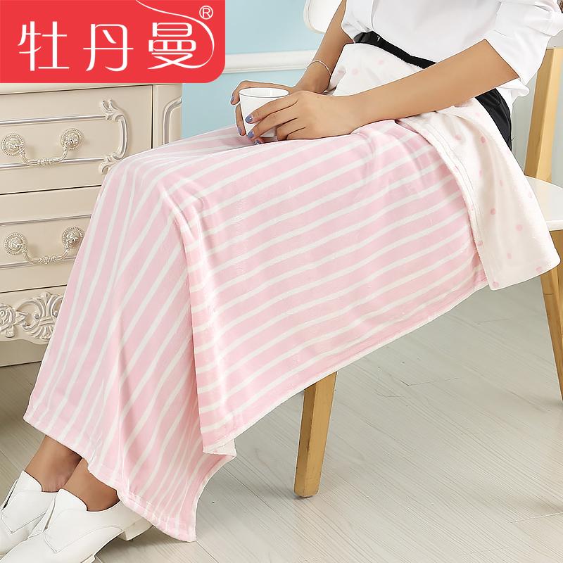 牡丹曼辦公室毯地鐵毯午睡毯膝蓋毯小毯子空調毯 嬰兒蓋毯披肩