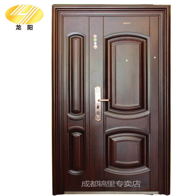 龙阳甲级防盗门安全门子母门防火棉入户门新型转体锁进户门手慢无