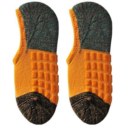 男船袜篮球运动硅胶防滑隐形毛巾袜