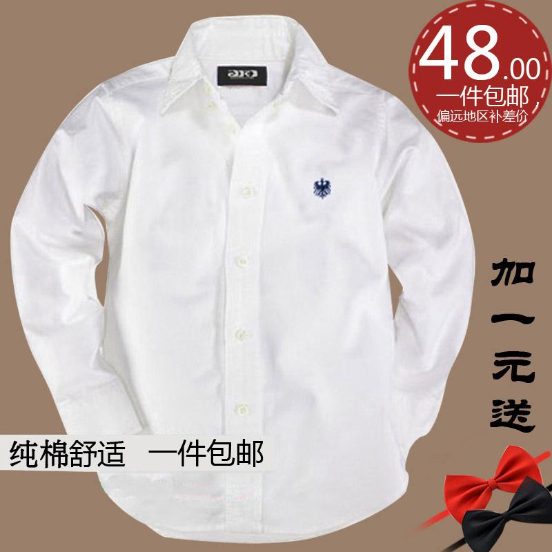 Детская одежда Детская белые рубашки мальчиков длинный рукав хлопок костюм студенческие игры подростков Показать белую рубашку
