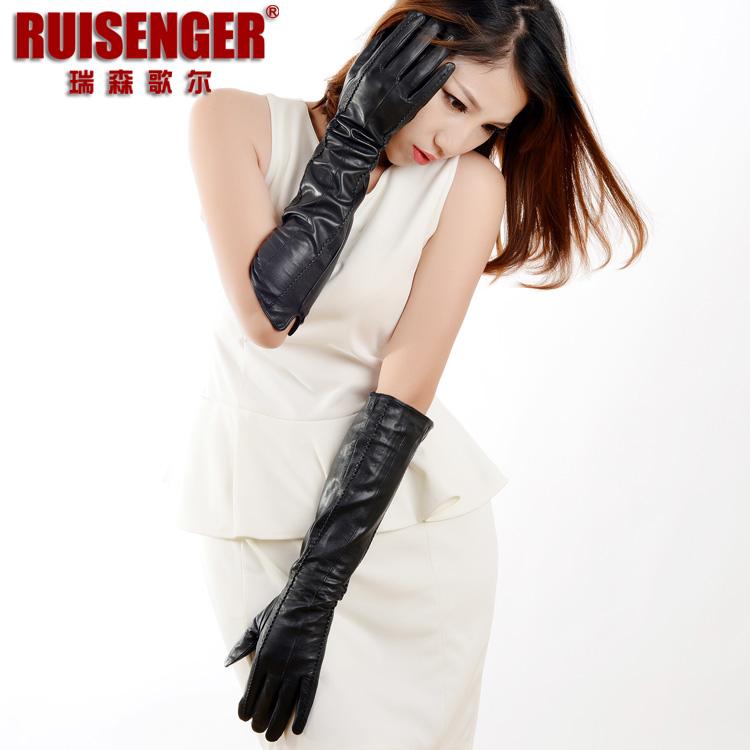 Женские перчатки с мехом Артикул 40739617995