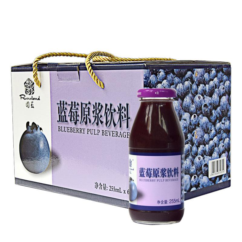 ~天貓超市~圓藍reveland255ml^~6藍莓原漿飲品 花青素果汁果肉