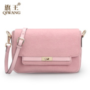 Qi Wang shoulder bag 2015 winter new style fashion woolen bag Joker leisure light luxury envelope bags women bags
