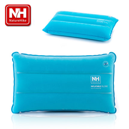¥7 NH 充气枕头 轻便携旅行飞机枕 植绒外层 仿麂皮绒 火车午睡枕头