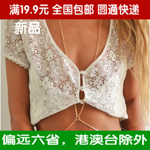 XL112 European and American style street shooting simple one big chain body Chain Necklace Female BodyChain