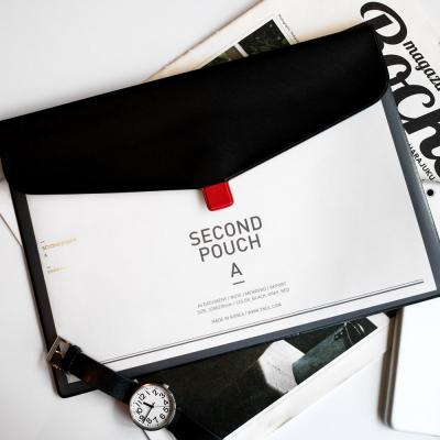 雯屋正品文具 韩国2nul 气质仿皮A4文件夹 文件袋 文件包 资料袋